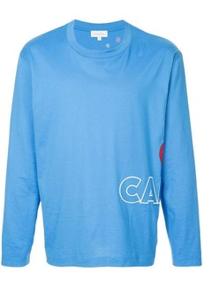 Calvin Klein logo embroidered long sleeve top