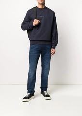 Calvin Klein logo-embroidered mock-neck sweatshirt
