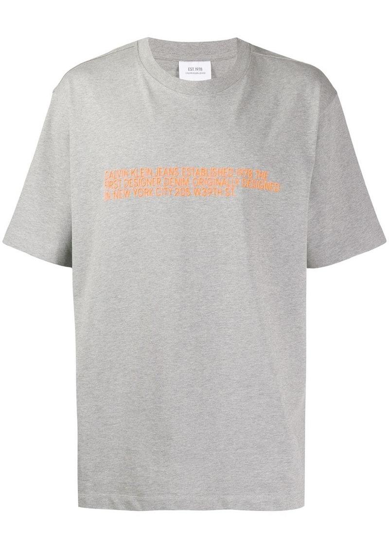 Calvin Klein logo embroidered T-shirt