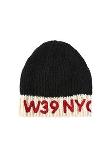 Calvin Klein Logo Embroidered Wool Knit Beanie Hat