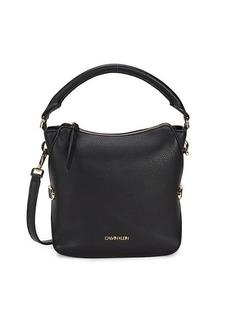 Calvin Klein Logo Faux Leather Crossbody Bag
