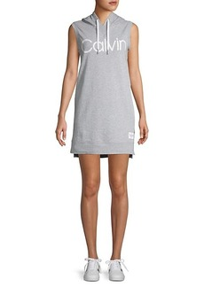Calvin Klein Logo Graphic Sleeveless Hoodie Dress
