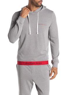 Calvin Klein Logo Hem Pullover Lounge Hoodie