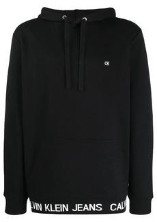 Calvin Klein logo hem hoodie