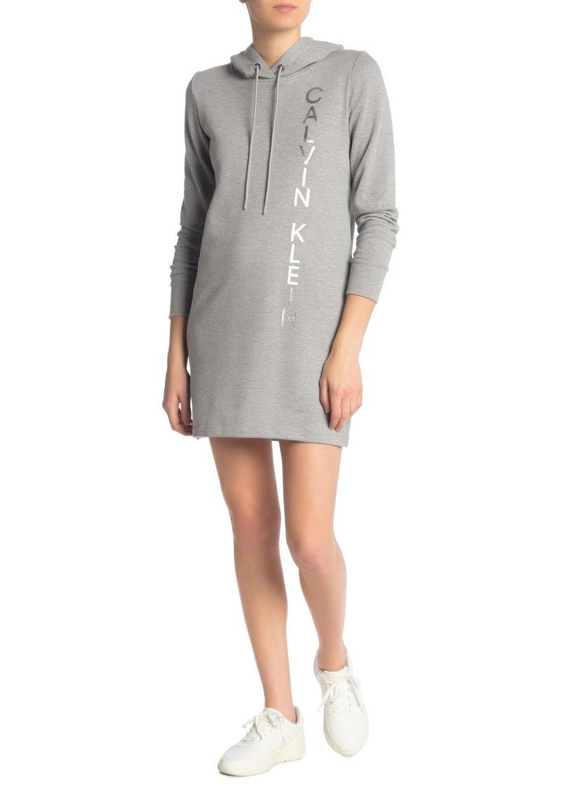 Calvin Klein Logo Hoodie Sweater Dress