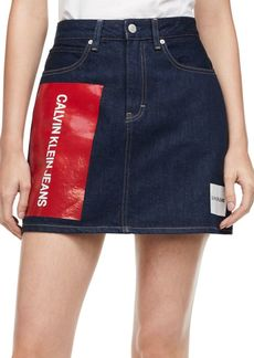 Calvin Klein Logo Mini Denim Skirt