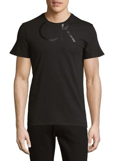 Calvin Klein Logo-Neck Cotton Tee