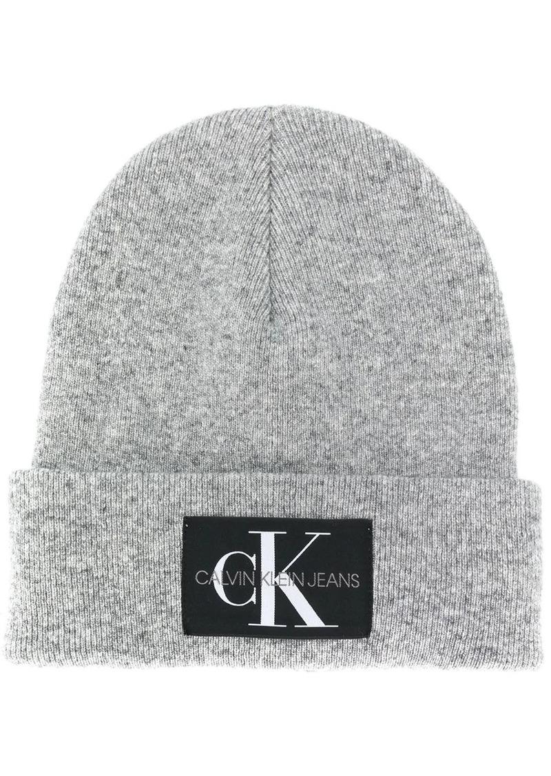 Calvin Klein logo patch beanie