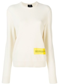 Calvin Klein logo patch crew neck jumper