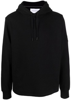 Calvin Klein logo-patch knitted hoodie