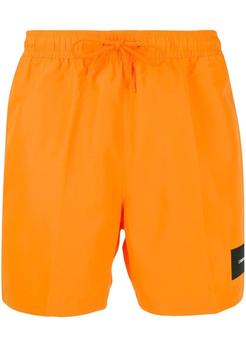 Calvin Klein logo patch swimming shorts