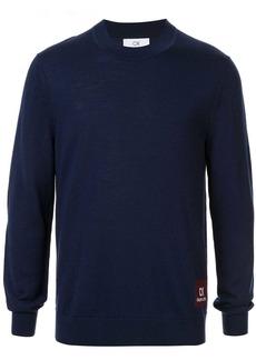 Calvin Klein logo patch wool sweater