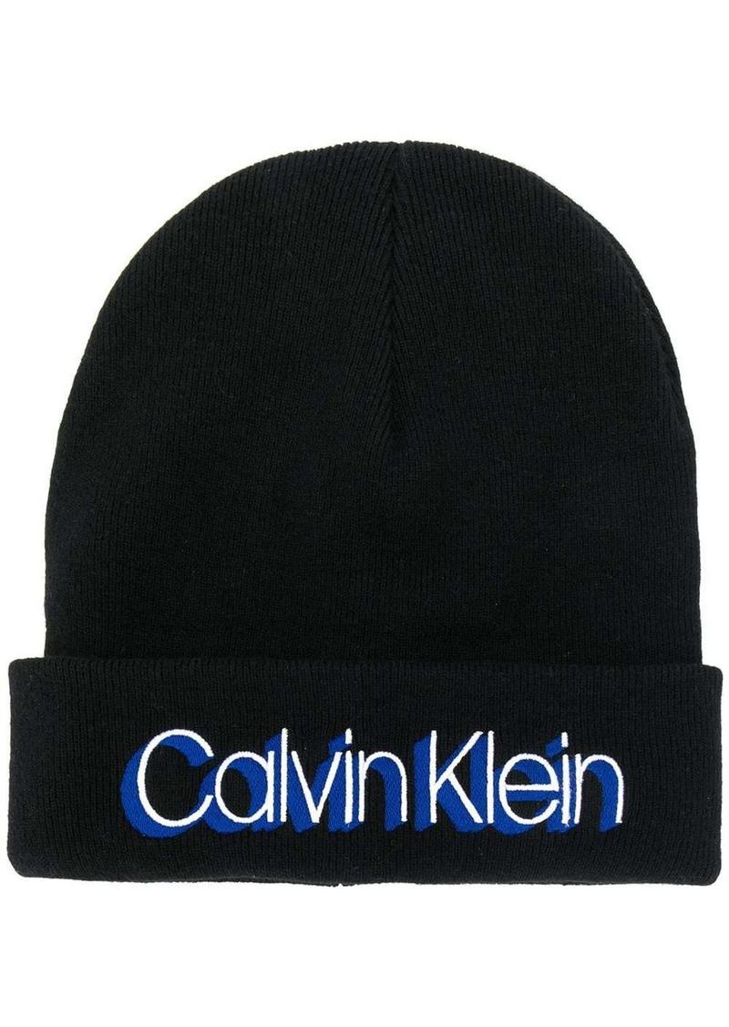 Calvin Klein logo print beanie