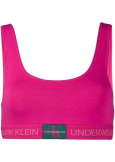 Calvin Klein logo print bralette