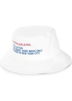 Calvin Klein logo print bucket hat