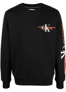 Calvin Klein logo-print cotton jumper