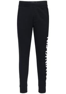 Calvin Klein Logo Print Cotton Sweatpants