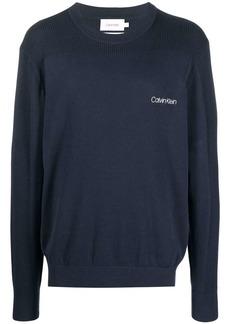 Calvin Klein logo-print crew neck sweater
