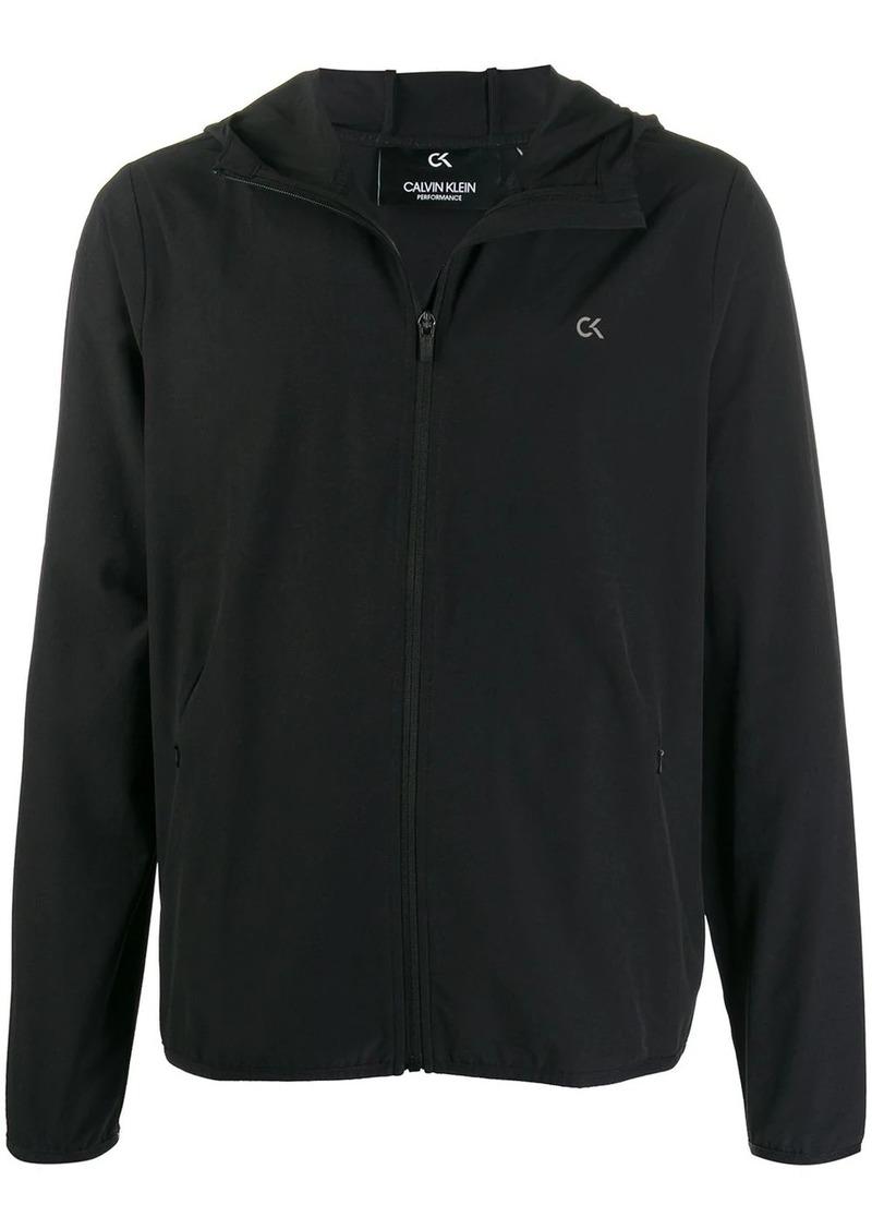 Calvin Klein logo print hooded jacket