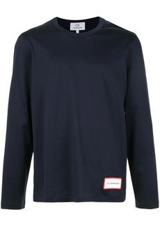 Calvin Klein logo print long-sleeve top