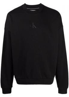 Calvin Klein logo-print long-sleeved sweater
