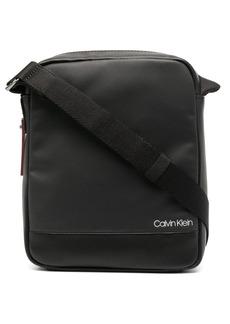 Calvin Klein logo print messenger bag