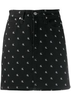 Calvin Klein logo print mini skirt
