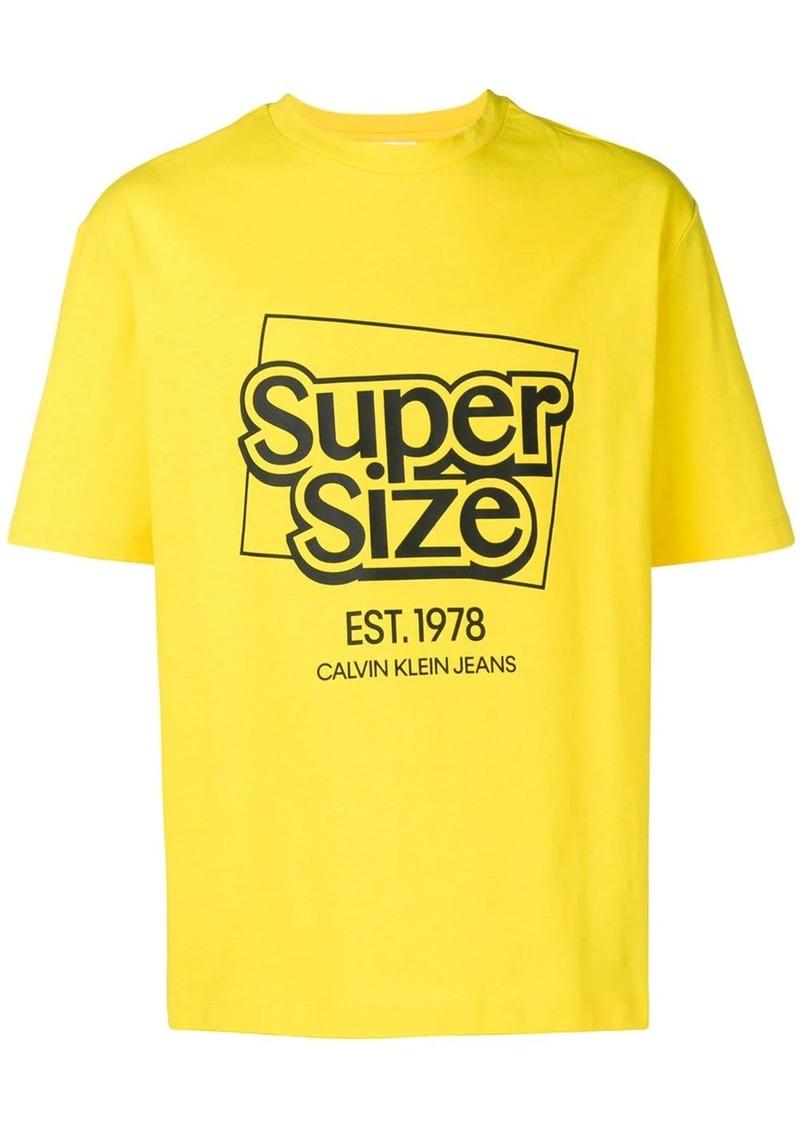 Calvin Klein logo print short-sleeved cotton T-shirt