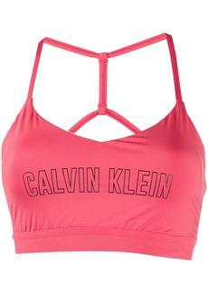 Calvin Klein logo print sports bra