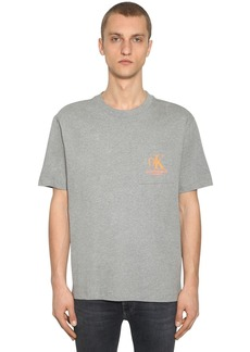Calvin Klein Logo Printed Cotton T-shirt