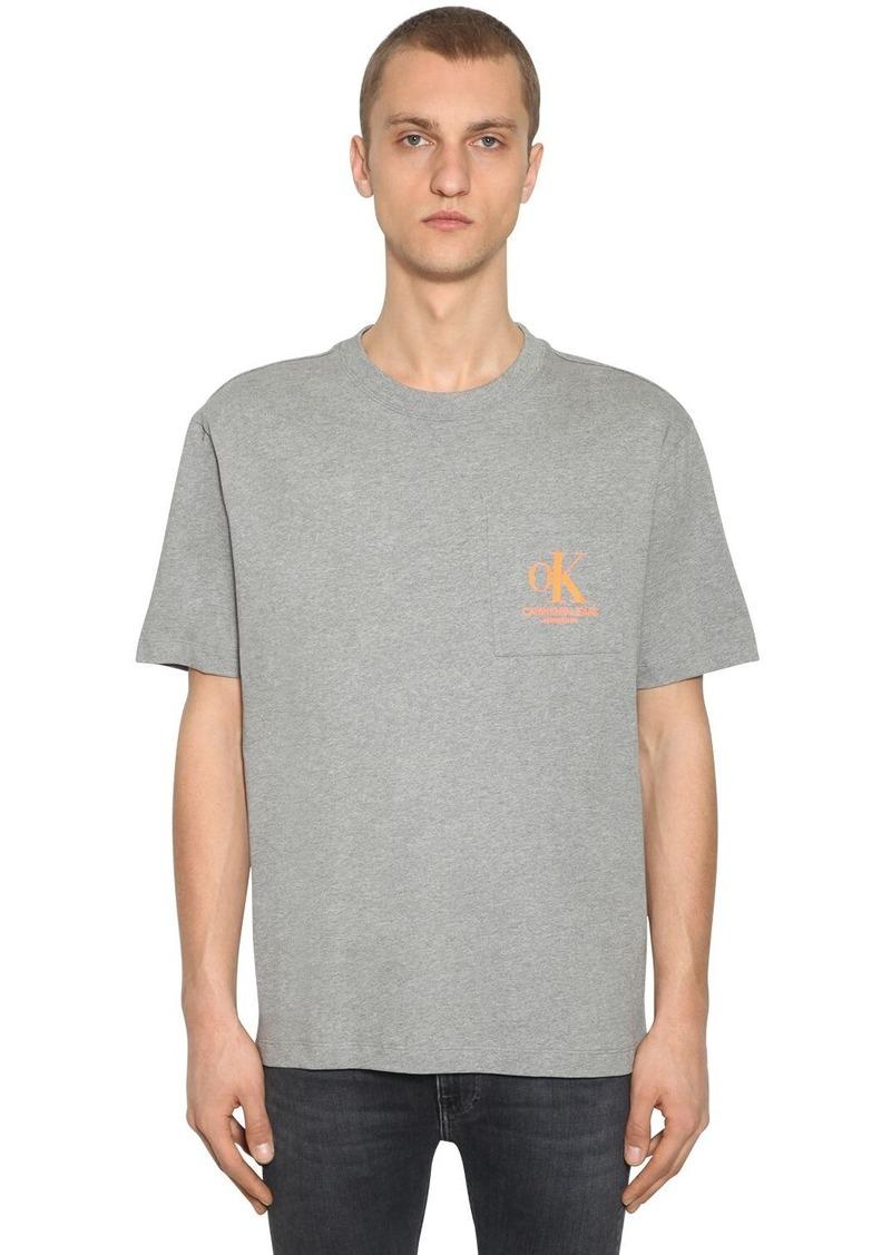 Calvin Klein Logo Printed Cotton T-shirt