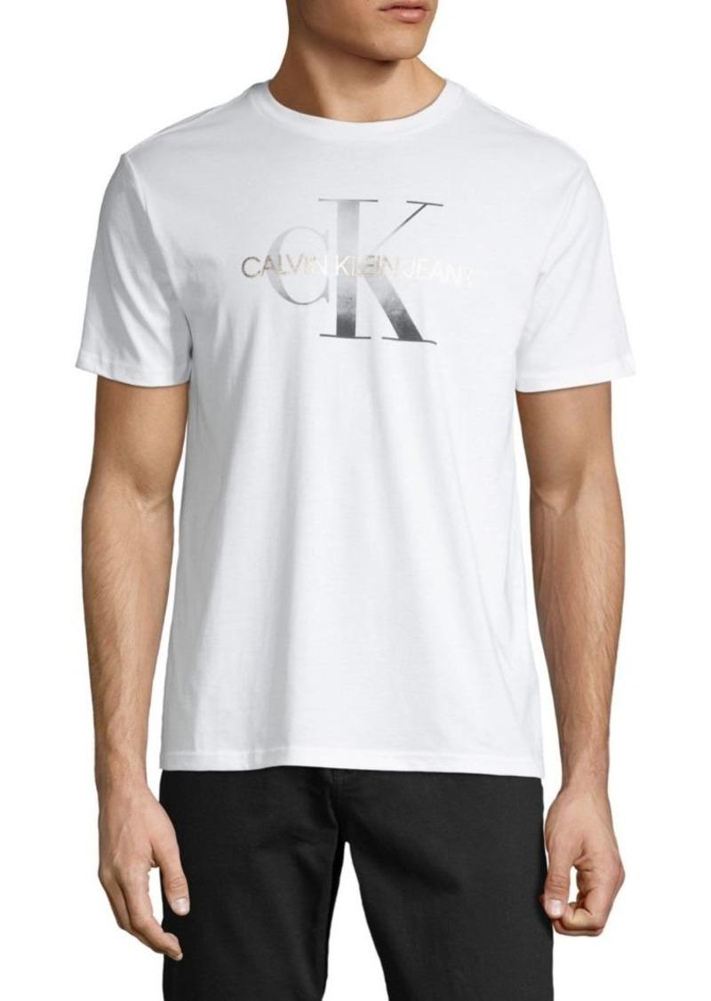 Calvin Klein Logo Short-Sleeve Cotton Tee