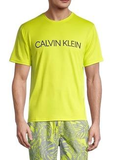Calvin Klein Logo Short-Sleeve Rash Guard T-Shirt