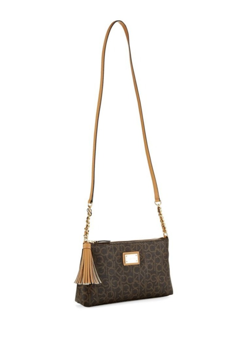 Calvin Klein Logo Shoulder Bag With Tassel