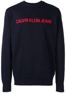 Calvin Klein logo stitched sweatshirt