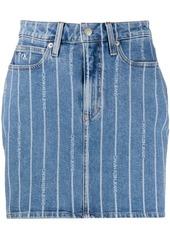Calvin Klein logo stripe skirt