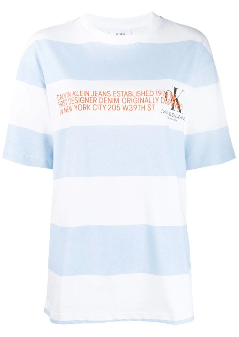 Calvin Klein logo striped T-Shirt