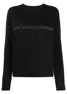 Calvin Klein logo tape crew-neck sweatshirt