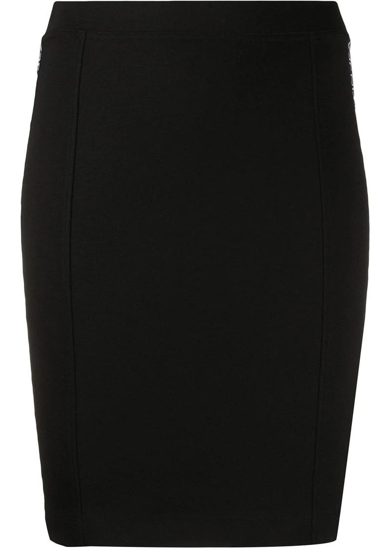 Calvin Klein logo tape pencil skirt