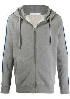 Calvin Klein logo tape zip-up hoodie