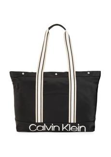 Calvin Klein Logo Top-Zip Tote