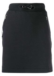 Calvin Klein logo trim drawstring skirt