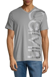 Calvin Klein Logo V-Neck Cotton Tee