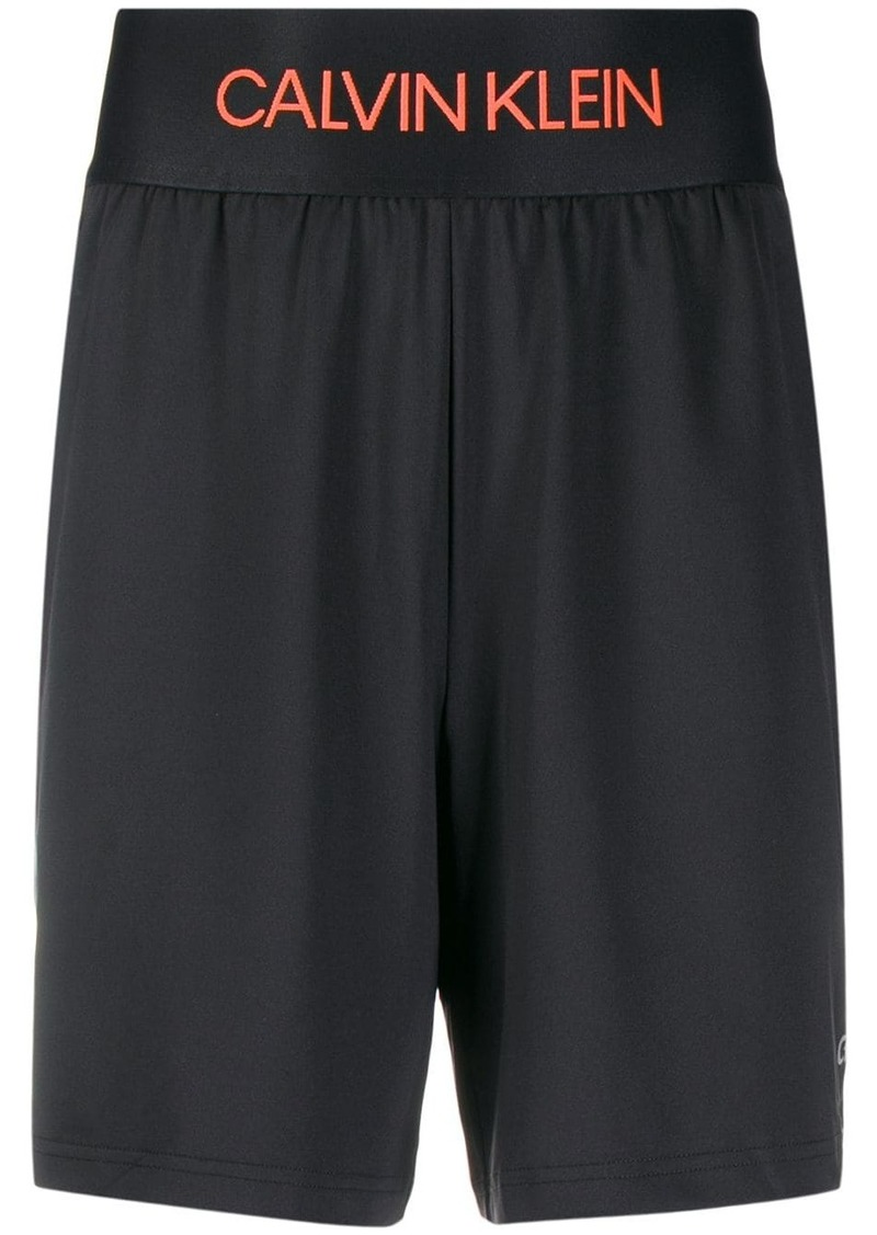 Calvin Klein logo waistband track shorts