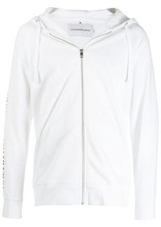Calvin Klein logo zipped hoodie