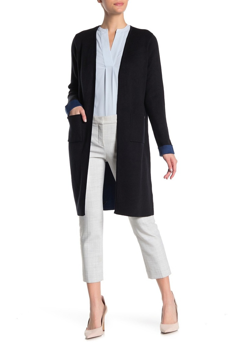 Calvin Klein Long Colorblock Trim Cardigan