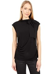 Calvin Klein Long Sleeve Blouse with Chiffon Tie