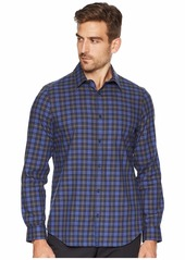 Calvin Klein Long Sleeve Brushed Workwear Plaid Button Down