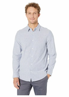 Calvin Klein Long Sleeve Cotton Linen Button Down Shirt