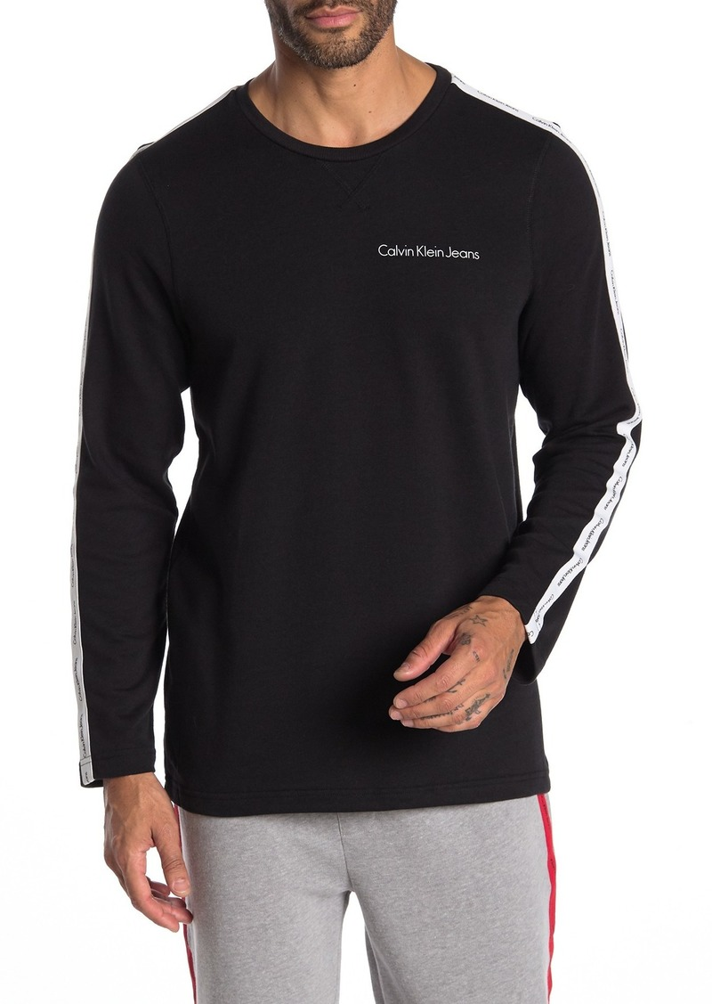 Calvin Klein Striped Long Sleeve Lounge T-Shirt